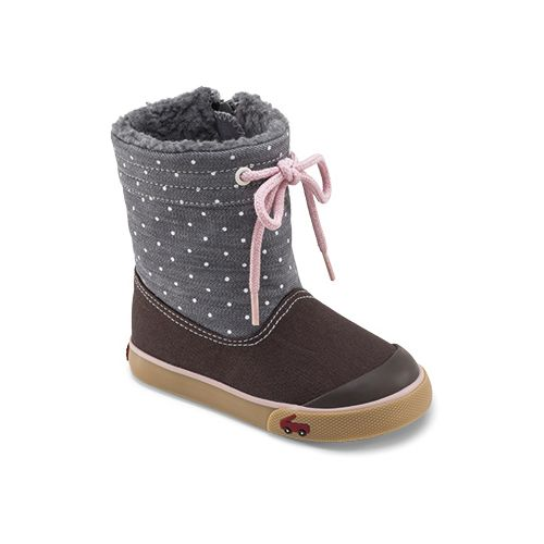 Kids See Kai Run Greta Casual Shoe - Grey 6