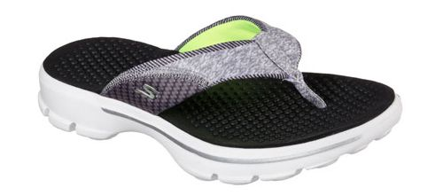 Womens Skechers GO Walk Pizazz Sandals Shoe - Black/White 6