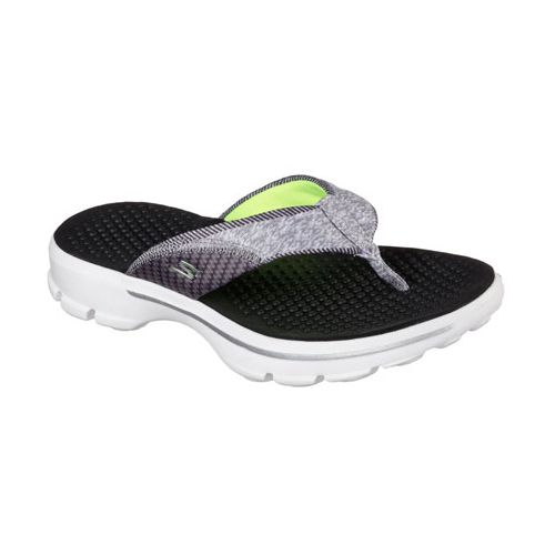 Womens Skechers GO Walk Pizazz Sandals Shoe - Black/White 9
