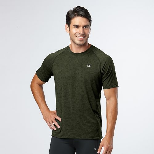 Mens Road Runner Sports Training Day Short Sleeve Technical Tops - Jungle L