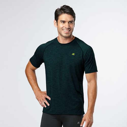 Mens Road Runner Sports Training Day Short Sleeve Technical Tops - Deep Teal L