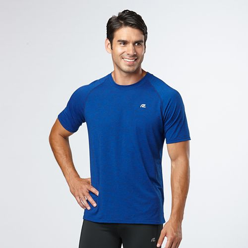 Mens Road Runner Sports Training Day Short Sleeve Technical Tops - Cobalt M
