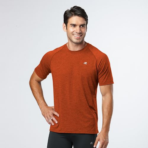 Mens Road Runner Sports Training Day Short Sleeve Technical Tops - Amber XXL