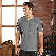 Mens Road Runner Sports Training Day V-Neck Short Sleeve Technical Tops