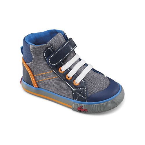 See Kai Run Boys Dane Casual Shoe - Grey 5.5C
