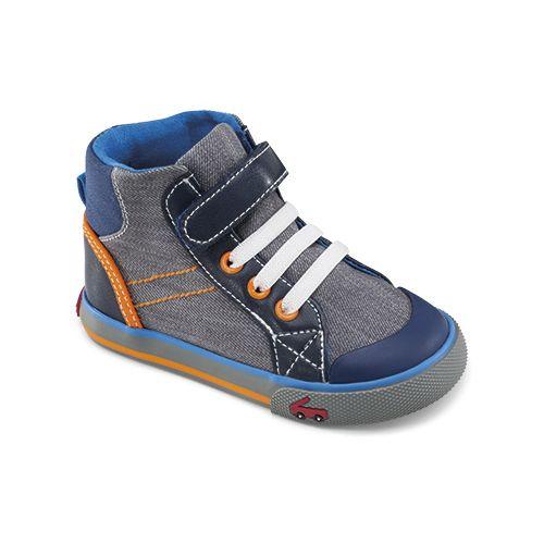 Kids See Kai Run Dane Casual Shoe - Navy 8.5C