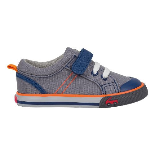 Kids See Kai Run Tanner Casual Shoe - Grey/Orange 4C