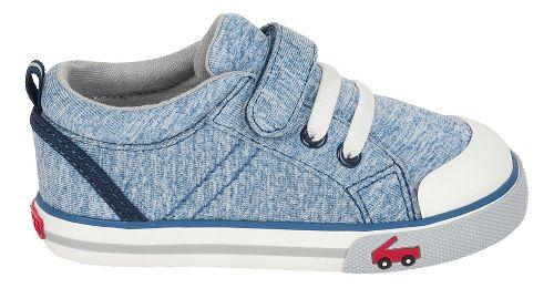 Boys See Kai Run Tanner Casual Shoe - Blue Jersey 12.5C