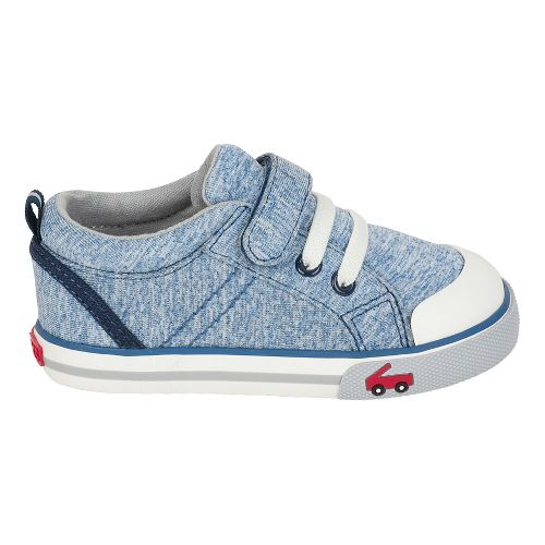 Boys See Kai Run Tanner Casual Shoe - Blue Jersey 13C