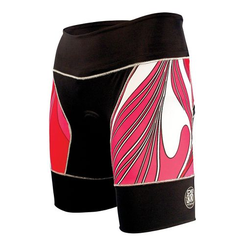 Womens De Soto Riviera Tri Unlined Shorts - Black/Coral XL