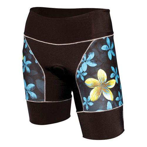 Womens De Soto Riviera Tri Unlined Shorts - Black/Plumeria XS