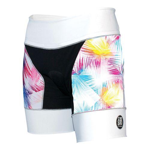 Womens De Soto Riviera Tri Unlined Shorts - White/Feather L