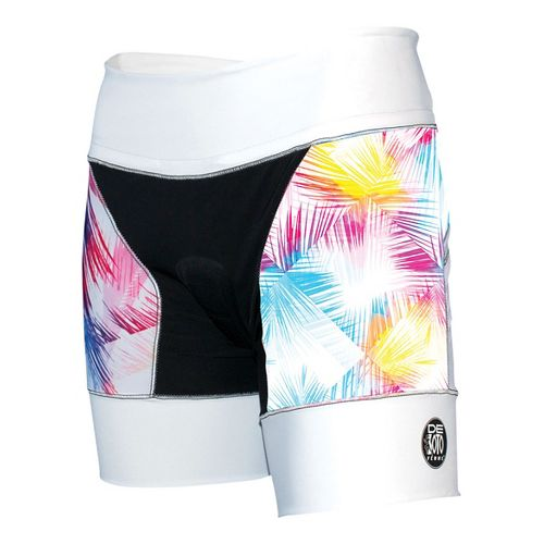 Womens De Soto Riviera Tri Unlined Shorts - White/Feather M