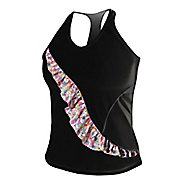 Womens De Soto Carrera Ruffle Full Sleeveless & Tank Technical Tops