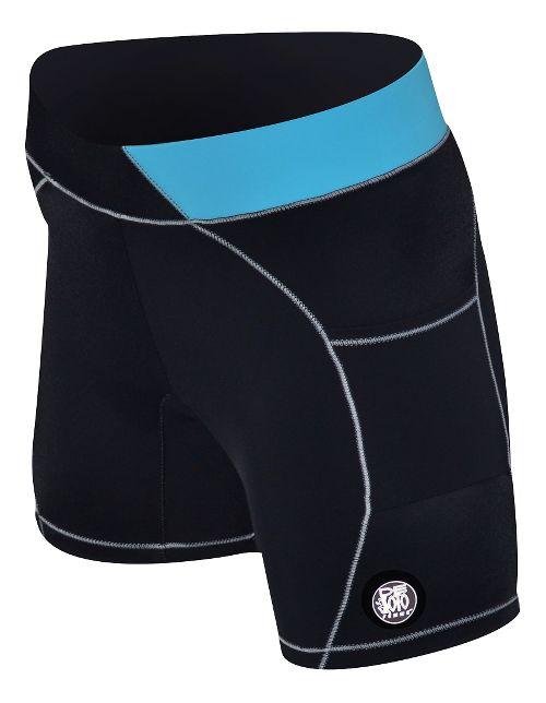 Womens De Soto Carrera Tri 2-in-1 Shorts - Black/Turquoise S