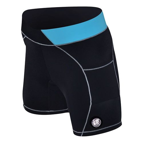 Womens De Soto Carrera Tri 2-in-1 Shorts - Black/Turquoise L