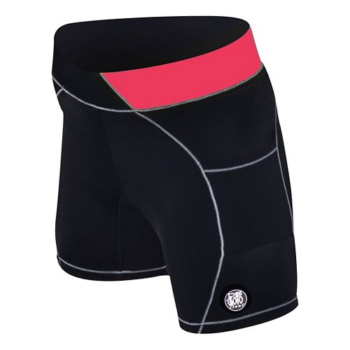 Womens De Soto Carrera Tri 2-in-1 Shorts - Black/Coral XL