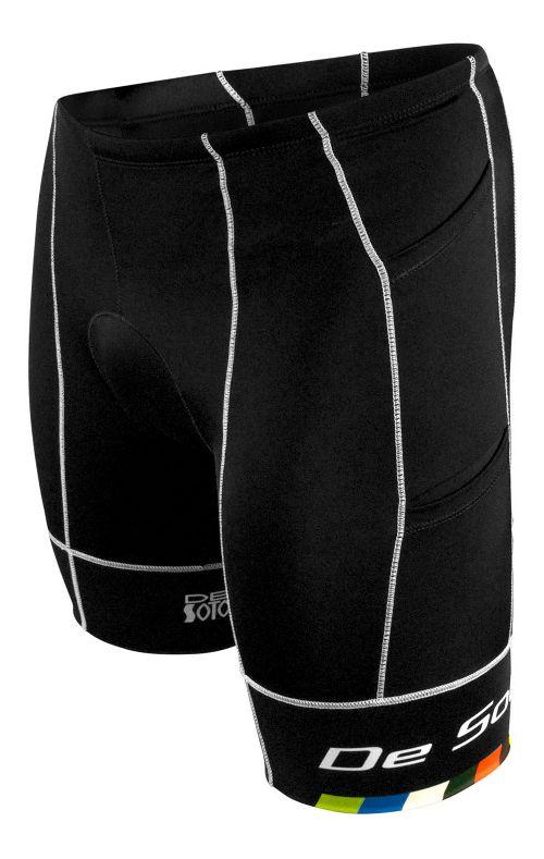 Mens De Soto Mobius Tri 4 Pocket Unlined Shorts - Black/Multi S