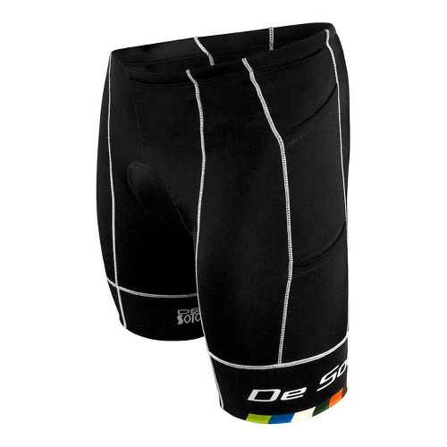 Mens De Soto Mobius Tri 4 Pocket Unlined Shorts - Black/Multi L