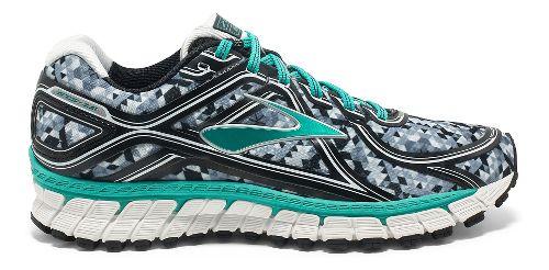 Womens Brooks Adrenaline GTS 16 Kaleidoscope Running Shoe - Black/Teal 6