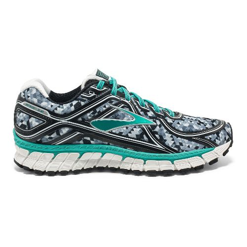 Womens Brooks Adrenaline GTS 16 Kaleidoscope Running Shoe - Black/Teal 6