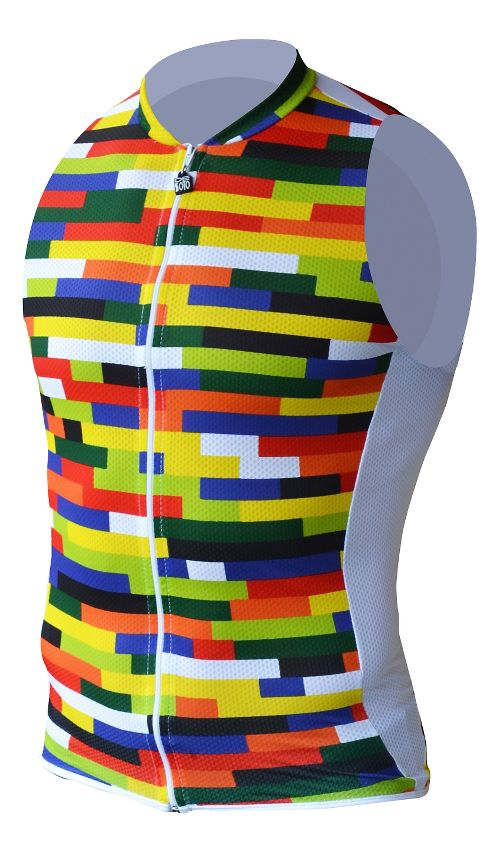 Mens De Soto Riviera SDS Tri Top - Full Zip Sleeveless & Tank Technical Tops - Color XL