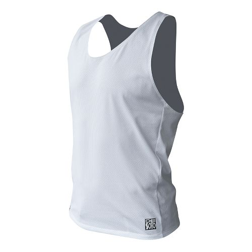 Mens De Soto SDS Run Singlet Sleeveless & Tank Technical Tops - White S