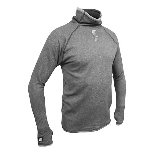 De Soto Face 2 Face Fleece Pullover Long Sleeve Technical Tops - Grey XS
