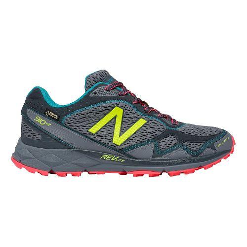 Womens New Balance T910v2 GTX Trail Running Shoe - Grey/Pink 6