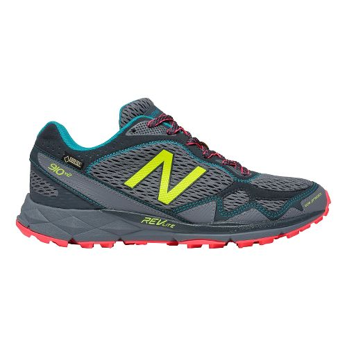 Womens New Balance T910v2 GTX Trail Running Shoe - Grey/Pink 7.5