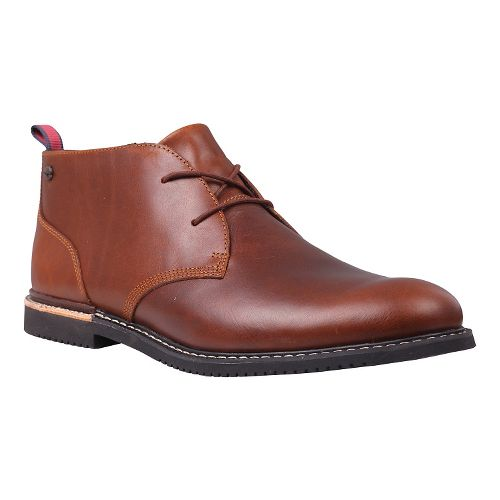 Mens Timberland Brook Park Oxford Casual Shoe - Red/Brown Smooth 7