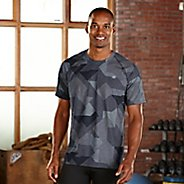 Mens R-Gear Training Day Printed Short Sleeve Technical Tops - Charcoal Geo XL