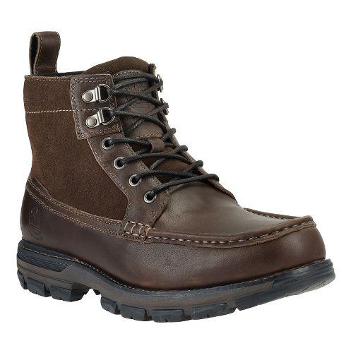 Mens Timberland Heston Mid Waterproof Casual Shoe - Dark Brown 11
