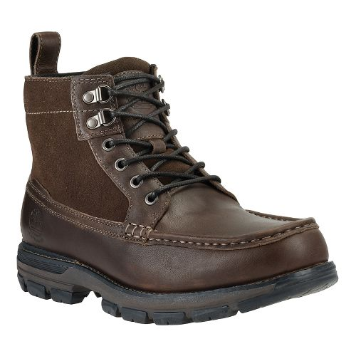 Mens Timberland Heston Mid Waterproof Casual Shoe - Dark Brown 8.5
