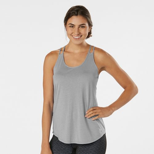 Womens R-Gear Standout Strappy Sleeveless & Tank Technical Tops - Heather Grey Mist L