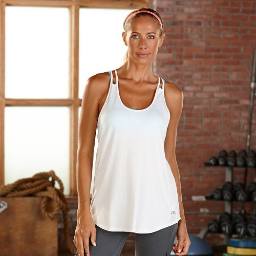 Womens R-Gear Standout Strappy Sleeveless & Tank Technical Tops - White M