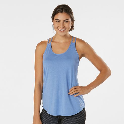 Womens R-Gear Standout Strappy Sleeveless & Tank Technical Tops - Heather Rhythm & Blue M ...