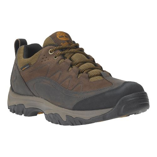 Mens Timberland Bridgeton Low Waterproof Hiking Shoe - Dark Brown 9
