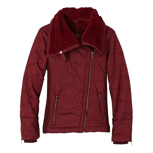 Womens prAna Diva Cold Weather Jackets - Red XS