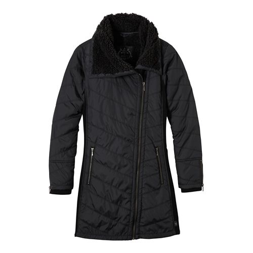 Womens prAna Diva Long Cold Weather Jackets - Black S