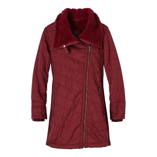 Womens prAna Diva Long Cold Weather Jackets - Red L