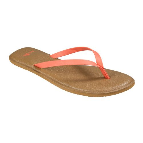 Womens Sanuk Yoga Bliss Sandals Shoe - Spiced Coral 9