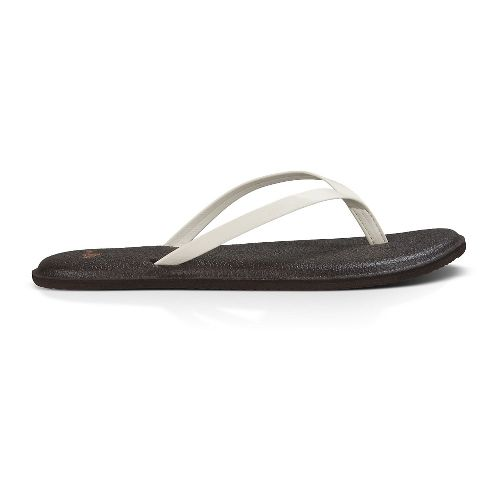 Womens Sanuk Yoga Bliss Sandals Shoe - Ivory 6