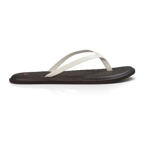 Womens Sanuk Yoga Bliss Sandals Shoe - Ivory 8