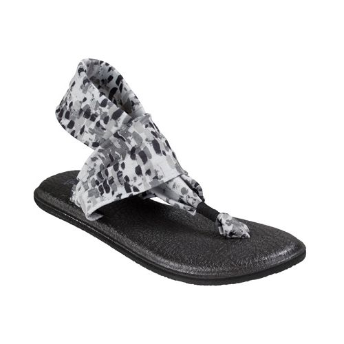 Womens Sanuk Yoga Sling 2 Prints Sandals Shoe - Black/White Rain 9