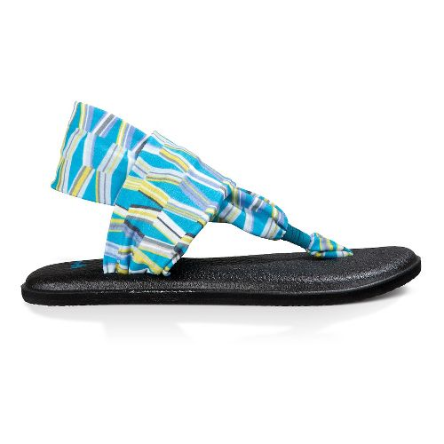 Womens Sanuk Yoga Sling 2 Prints Sandals Shoe - Blue/Green Mod Geo 10