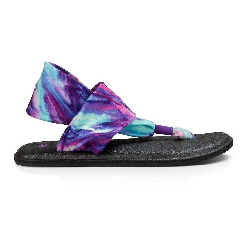 Womens Sanuk Yoga Sling 2 Prints Sandals Shoe - Purple/Blue Marble 7