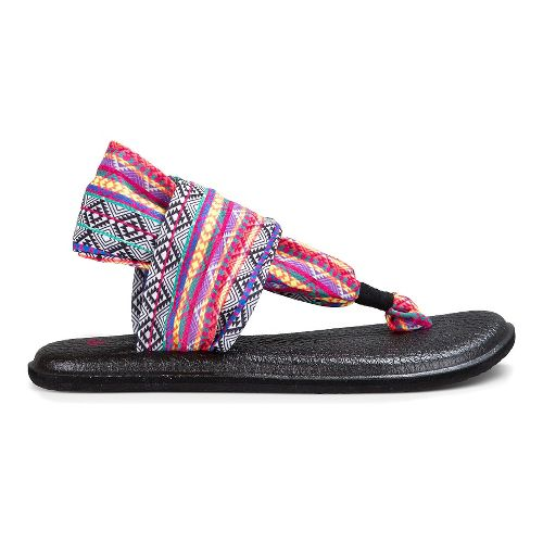 Womens Sanuk Yoga Sling 2 Prints Sandals Shoe - Magenta/Multi Tribal Stripe 6