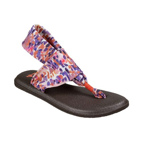 Womens Sanuk Yoga Sling 2 Prints Sandals Shoe - Spiced Coral Rain 6