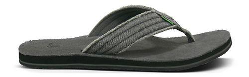 Mens Sanuk Fraid Not Sandals Shoe - Charcoal 8